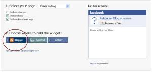 Membuat widget fan box/became fan facebook pada blog.